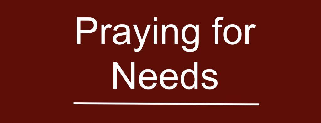 Praying for Needs